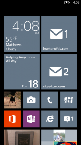 Windows 8x Home Screen
