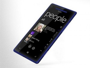 Windows Phone 8x by HTC in Graphite Black (side)