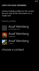 Contact Links on a Windows Mobile Phone