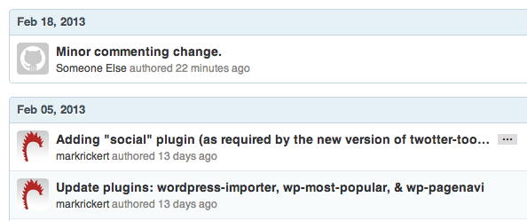 Changes made by Someone Else on Github