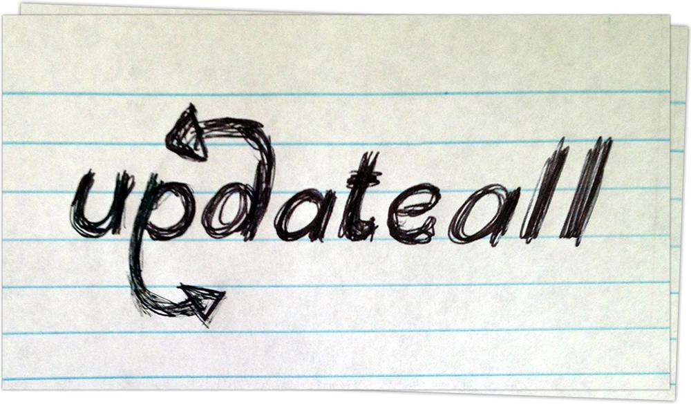Skookum Updateall sketched logo