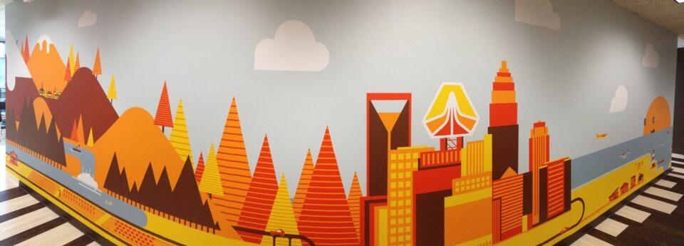 Full size NC mural