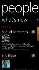 """People"" feature on Windows Phone"