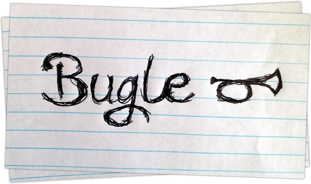 Sketched Bugle Logo