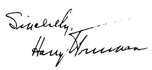 Harry Truman's Signature