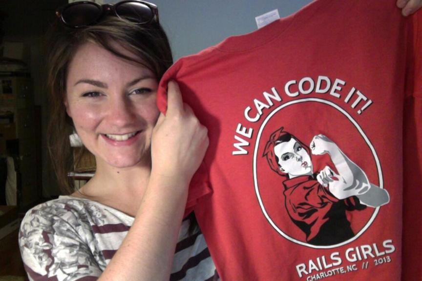 Mel Shields and Rails Girls T-Shirt