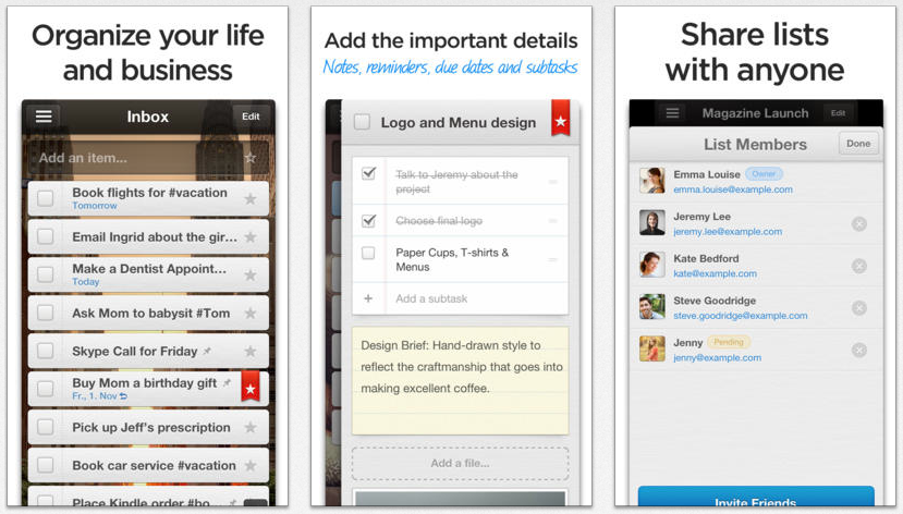 Wunderlist, a pretty cool to-do list app
