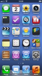 iOS 6 Home Screen
