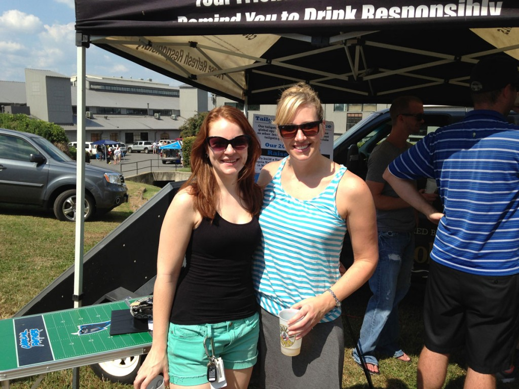 Rebecca Siler and Heather Scott at Roaring Riot Tailgate