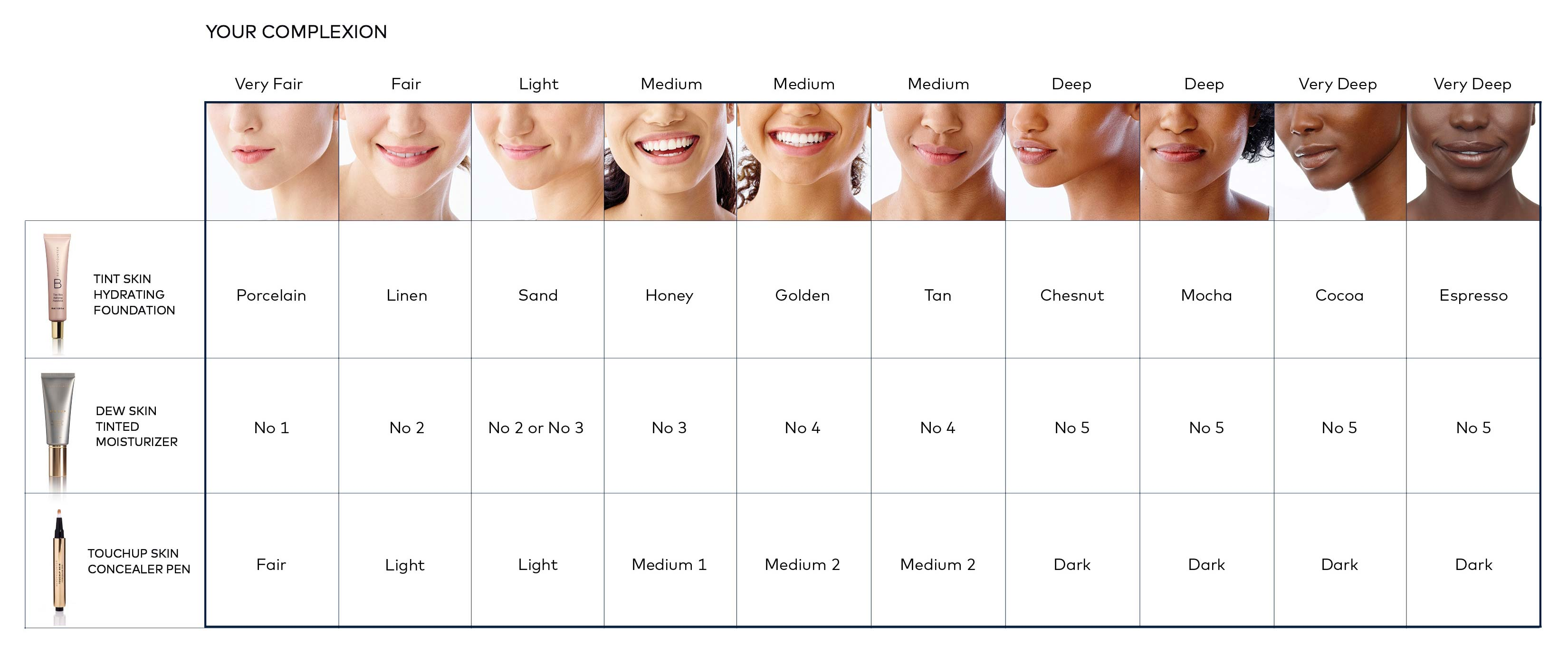 Find Your Shade Beautycounter