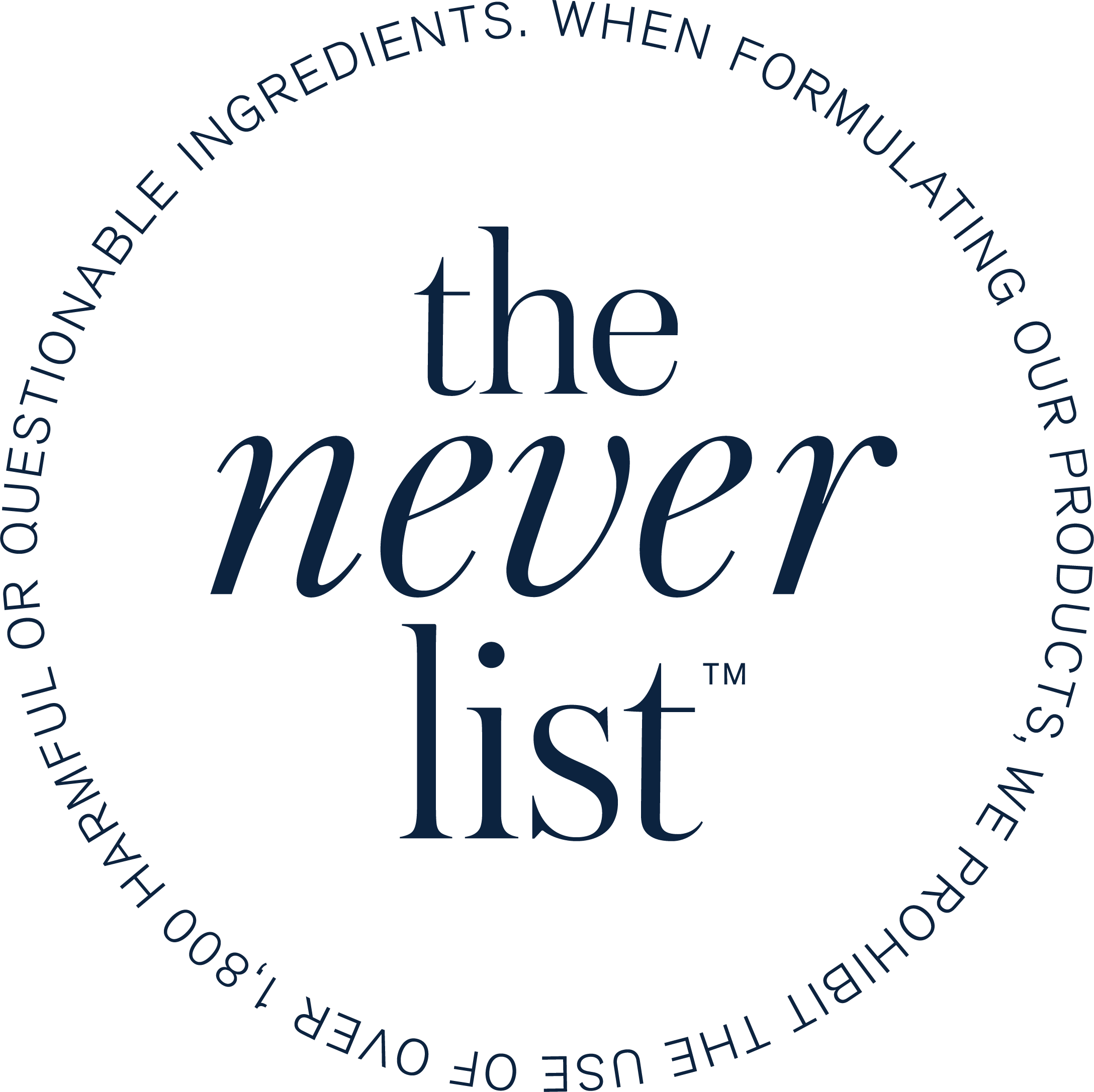 Never List logo