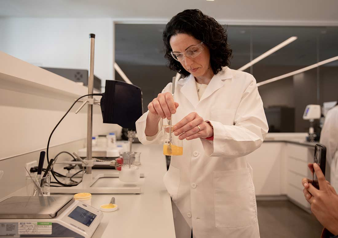 Female Scientist in the Beautycounter Lab