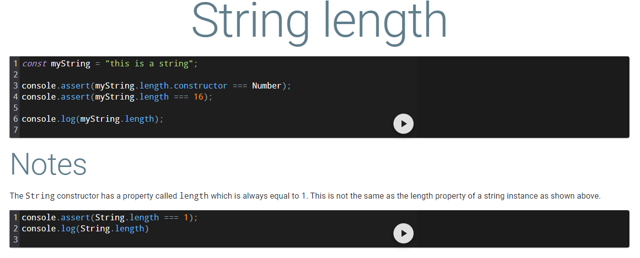 string length page