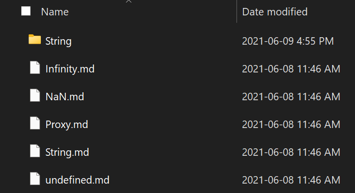 files with timestamps