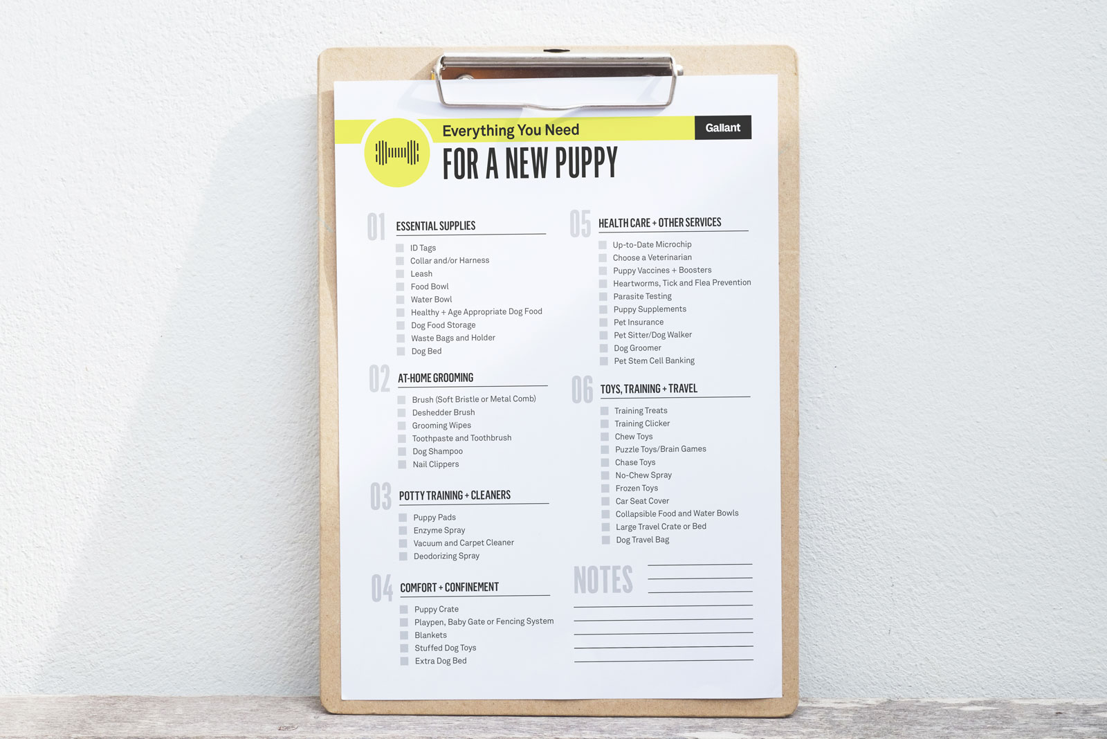 The New Puppy Checklist You Ve Been Searching For Gallant