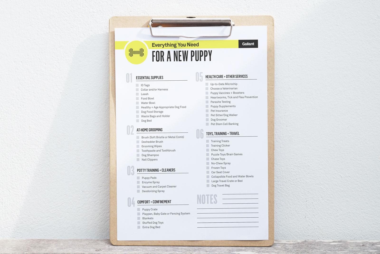 Ultimate New Puppy Checklist