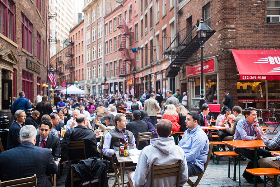 A Noteworthy Exception To This Is Stone Street Which The Center Of Entertainment In Financial District