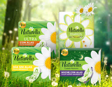 Naturella productos homepage