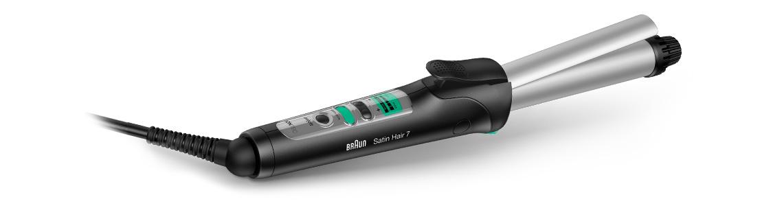 Стайлер для завивки волос Braun Satin Hair 7 с функцией ионизации IONTEC и легко читаемым светодиодным дисплеем