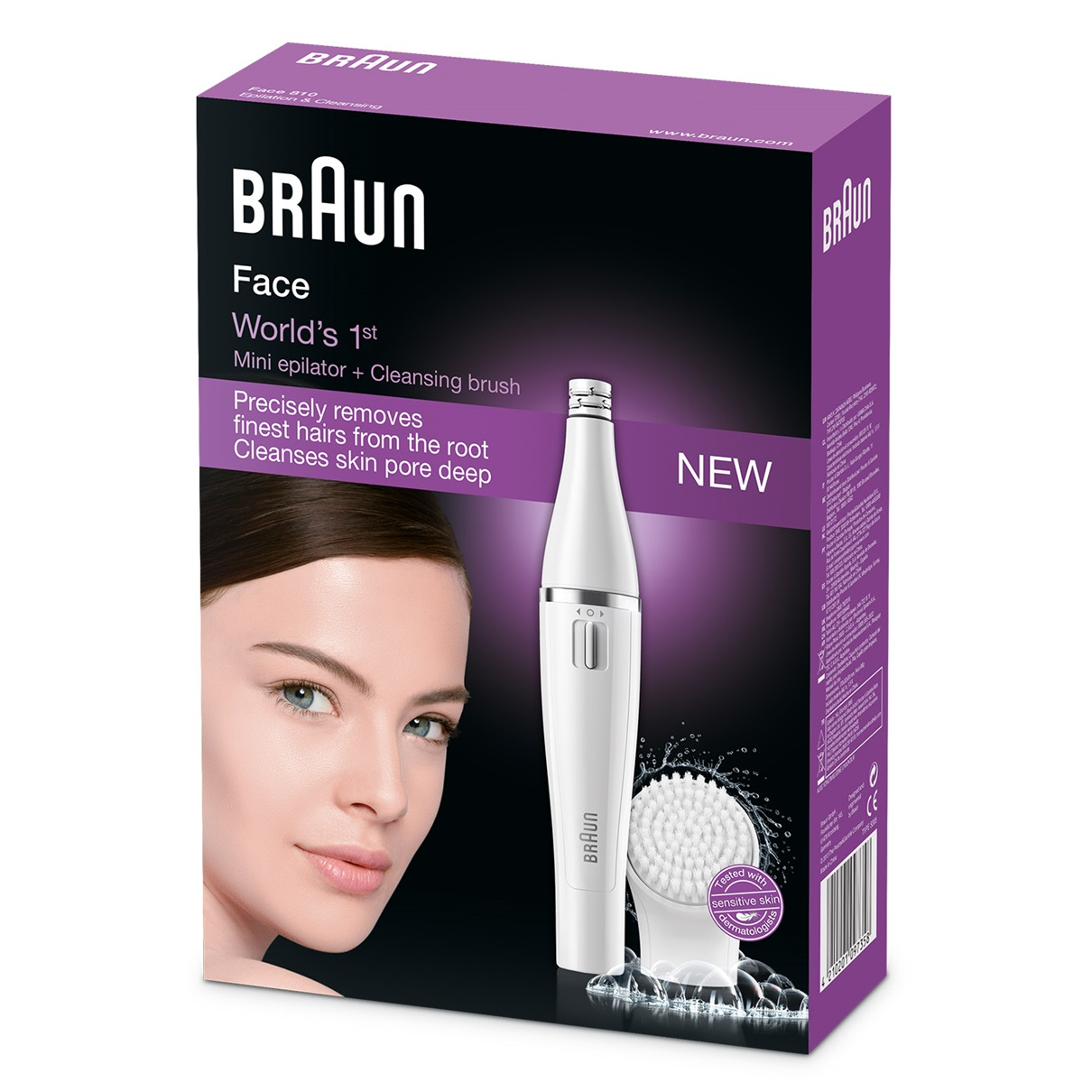 Braun Face 820 - facial epilator & facial cleansing brush with micro-oscillations - packaging