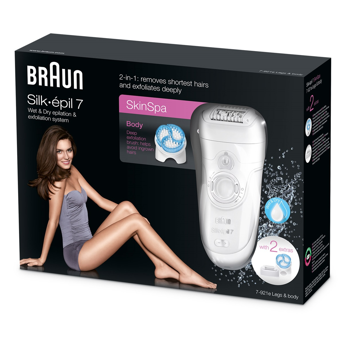 Braun Silk-épil 7 7-921e epilator packaging