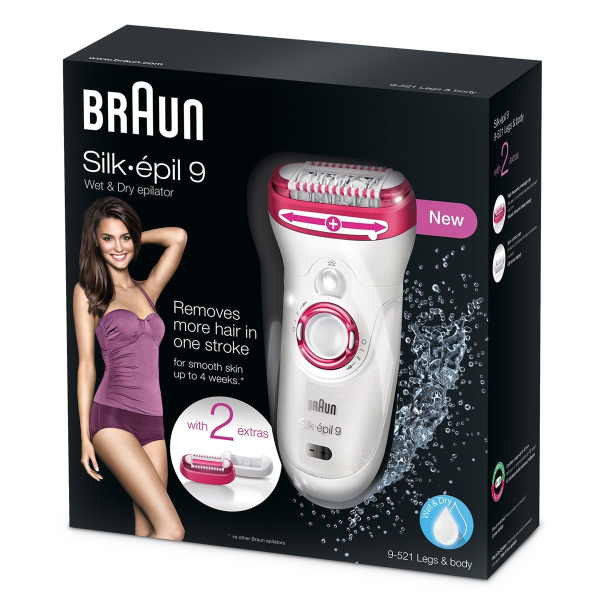 Silk-épil 9 - 9521 Wet&Dry Legs & Body Epilator packaging