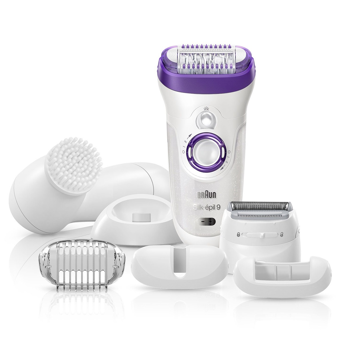 Silk-épil 9 - 9579 Wet&Dry Legs, Body & Face Epilator & Shaver + Brush