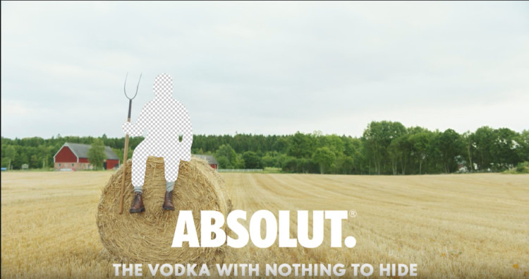 Absolut the vodka with nothing to hide