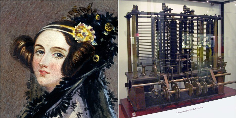 Ada Lovelace and the  Analytical Engine , courtesy of  Wikipedia