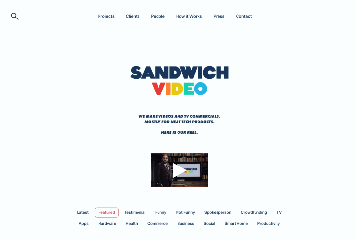Sandwich Video TV chatbot