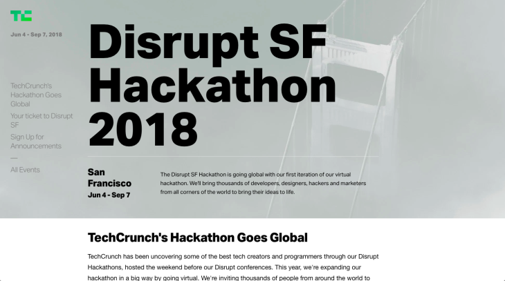 Techcrunch Disrupt Pre hackathon chatbot