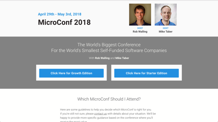 MicroConf Trade show conference chatbot