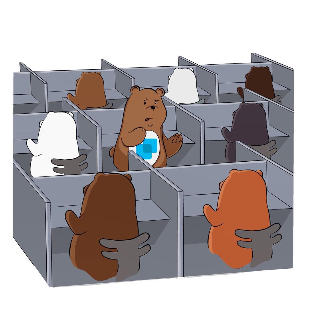 ShareBear lost in corporate cubicles