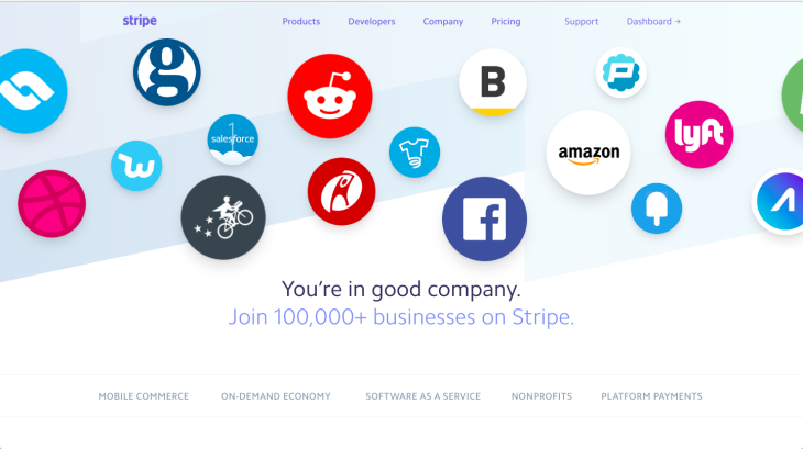 Stripe Case studies page chatbot