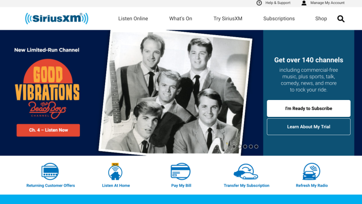 SiriusXM Radio chatbot