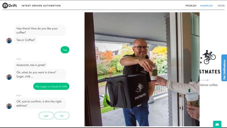 Sendoso Postmates Gift chatbot