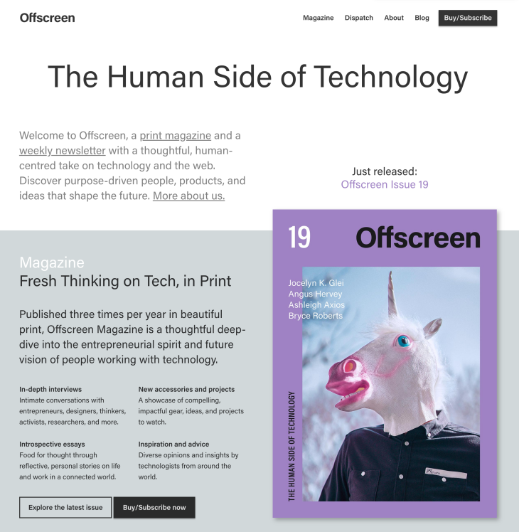 Offscreen Magazine chatbot