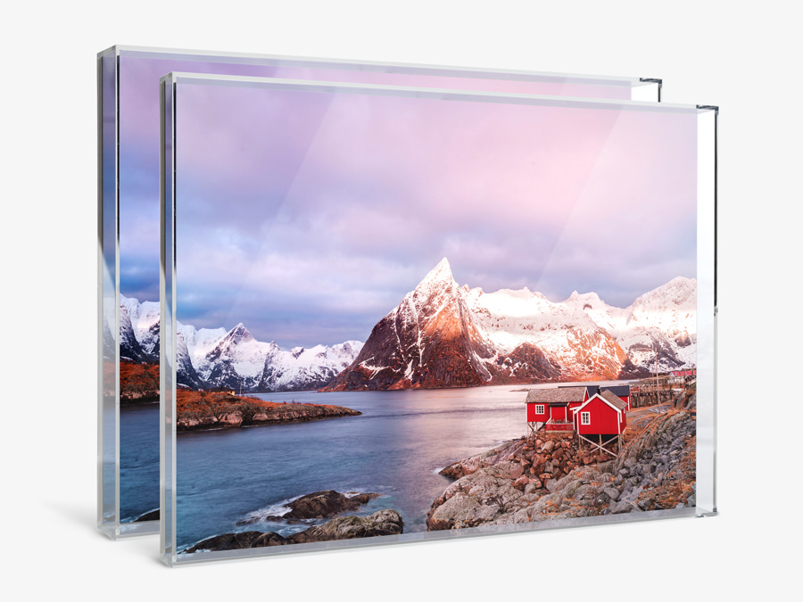 Order Print with Acrylic Box Frame in two depth