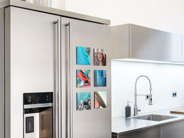 WhiteWall Acrylic Mini: Magnetically affix to fridges or metal furniture to order