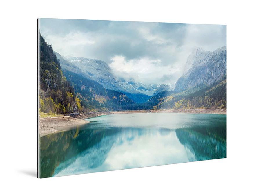 Original Photo Print Under Matte Acrylic Glass  | Mountains Panorama