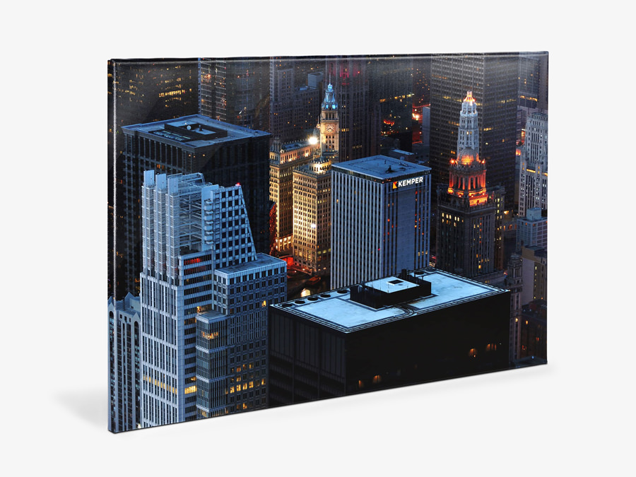 Canvas Glossy | Product with Cityscape