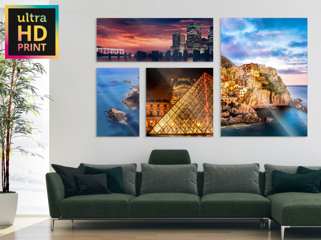 ultraHD Photo Print Under Acrylic Glass - With Permanently Elastic Silicone