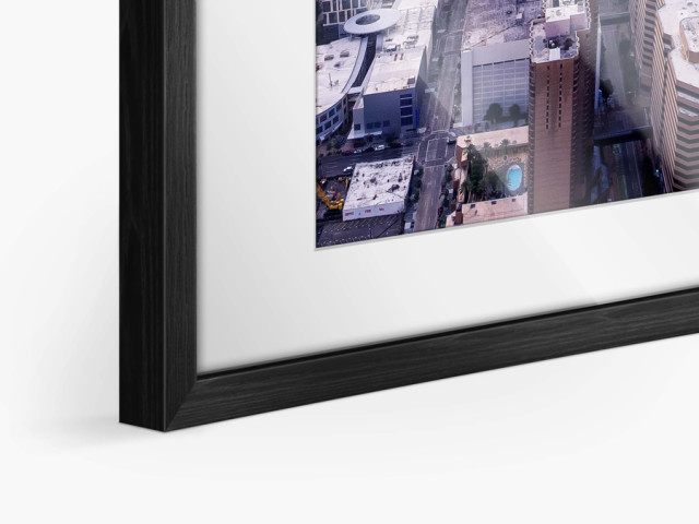 frame with passe-partout Hamburg black