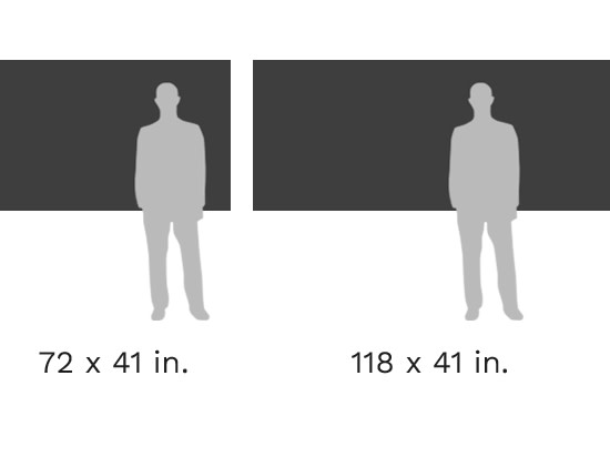 Size Comparison Chart 4 - Hahnemühule and Poster XXL specific