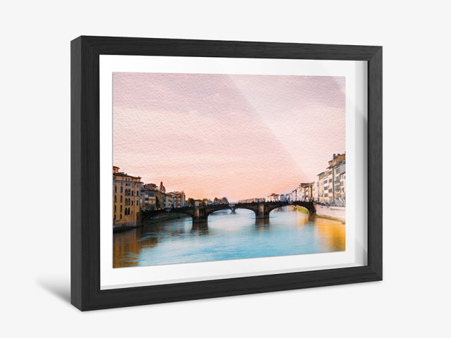 Design photo in showcase frame online