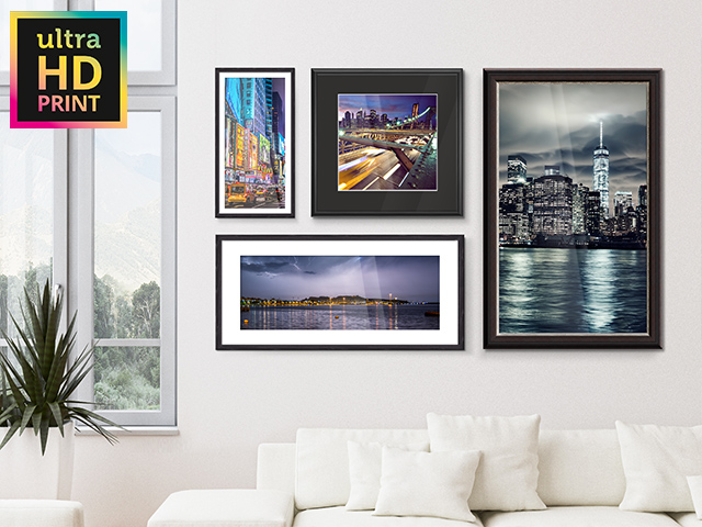Metallic ultraHD Photo Print | Room View