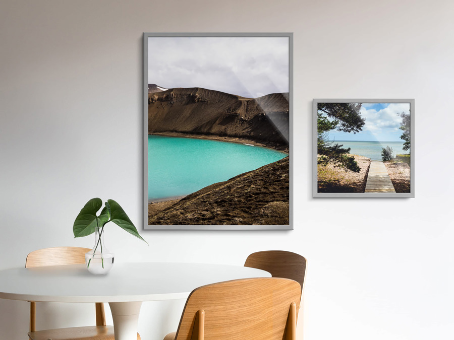 Design photo in aluminium frame