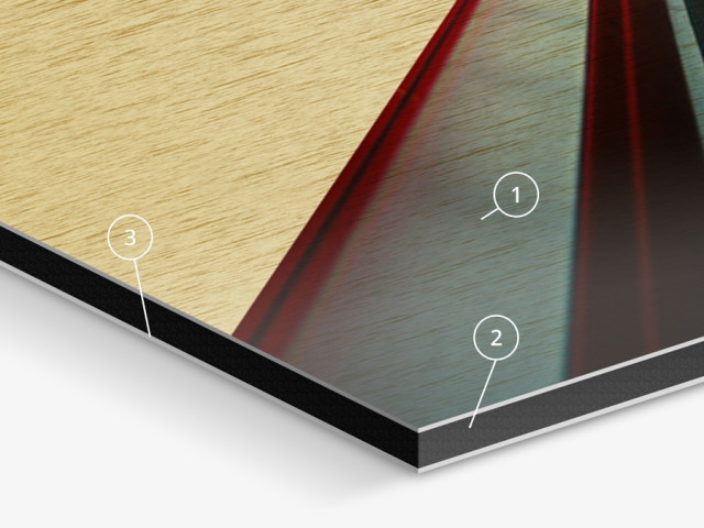 Alu-Dibond Butlerfinish: Metallischer Look in Gold