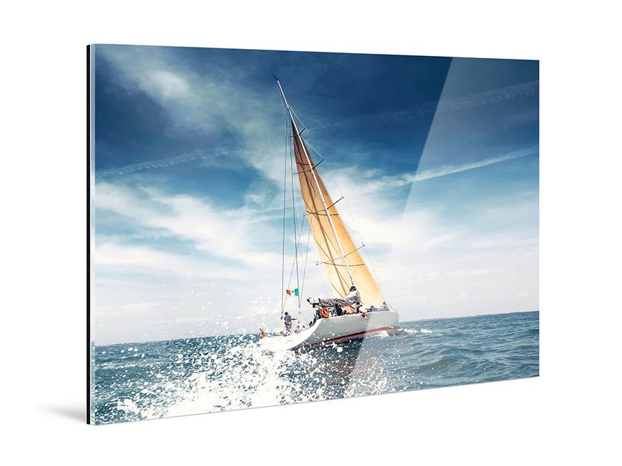 Original Photo Print Under Acrylic Glass | Fuji Crystal DP II - Boat Theme