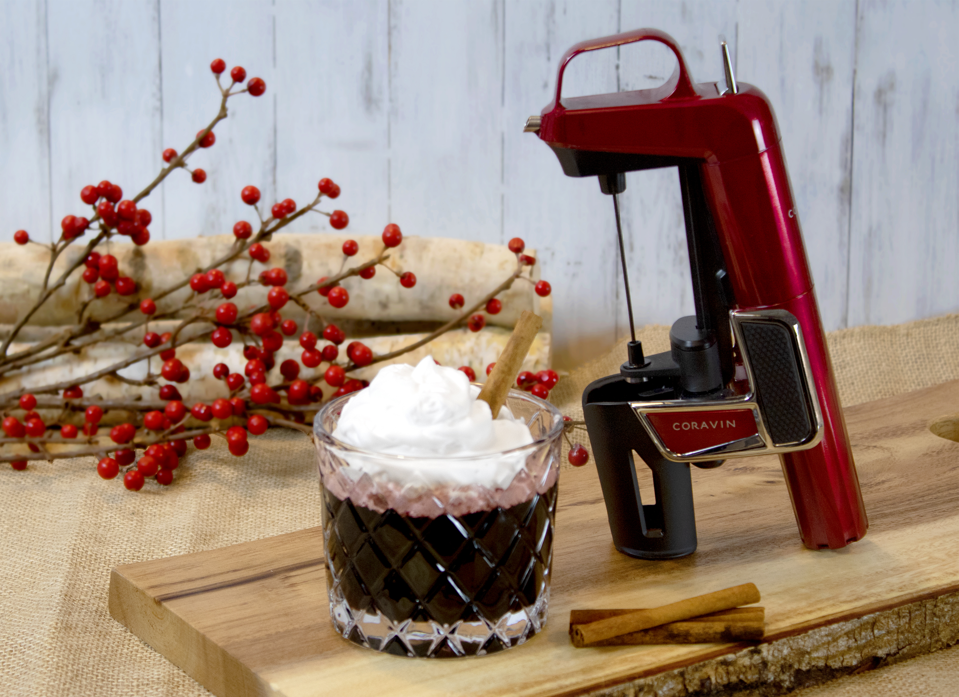holiday crink cream and spice coravin